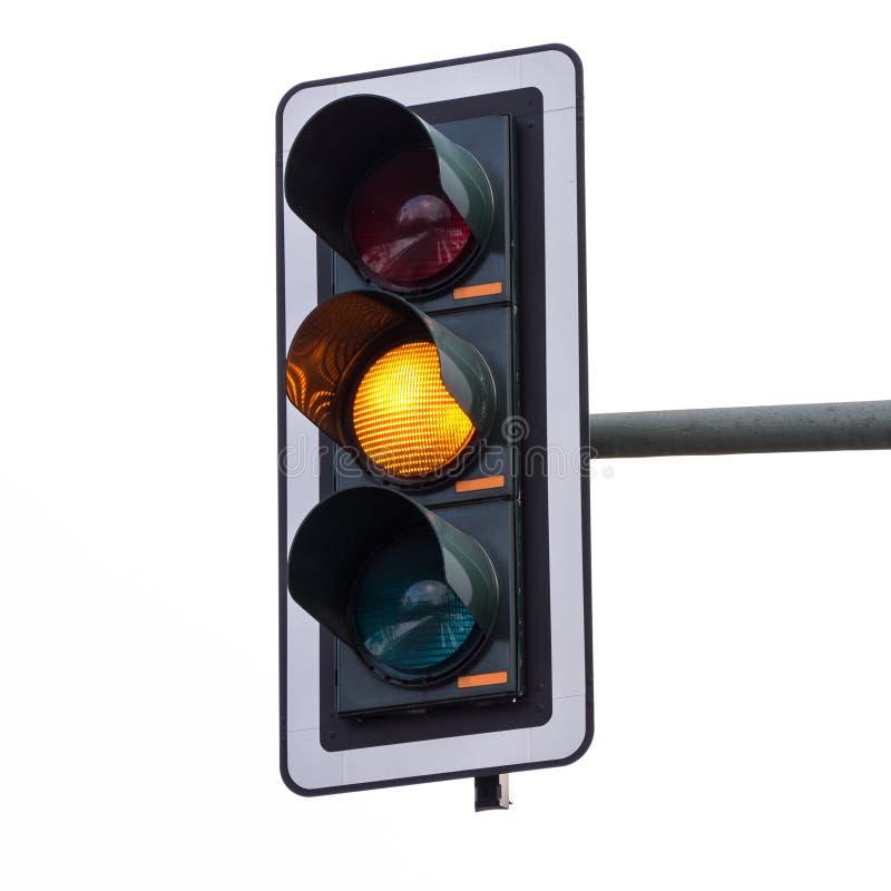 红绿灯(橙色) 免版税库存图片