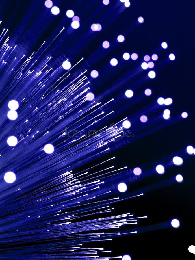 纤维光学纤维的闪亮指示 库存图片