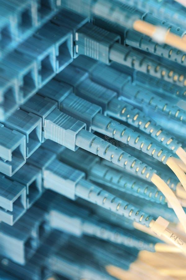 纤维与技术样式的缆绳服务 库存照片