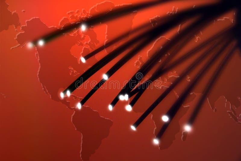 纤维光学导线 免版税库存照片