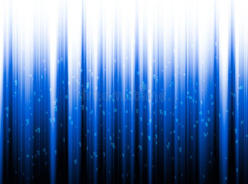 纤维光学特写镜头,现代计算机通讯技术 库存例证