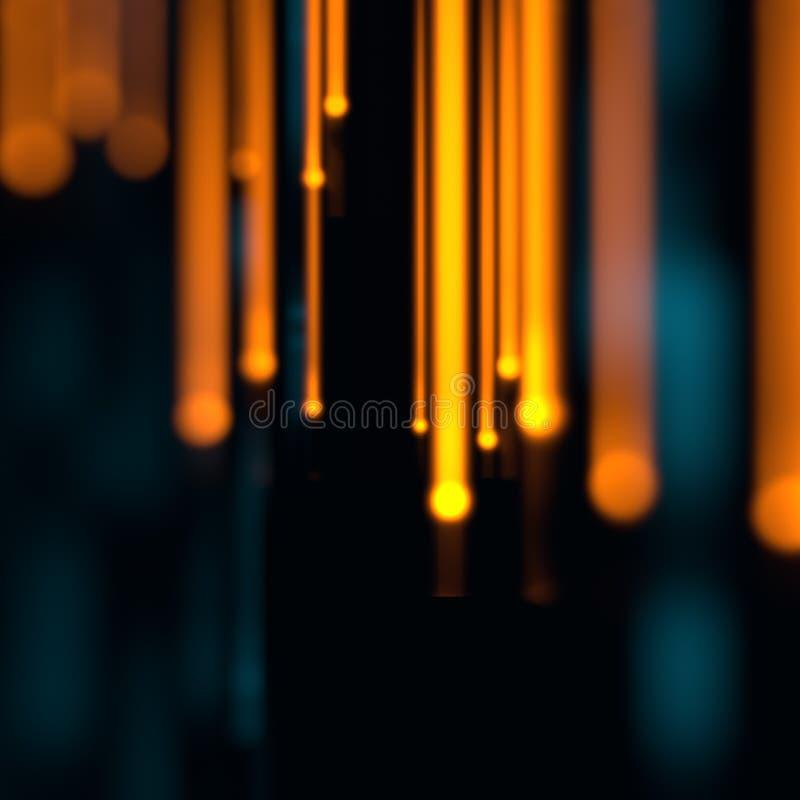 纤维光学的Defocused图象点燃抽象背景 库存例证