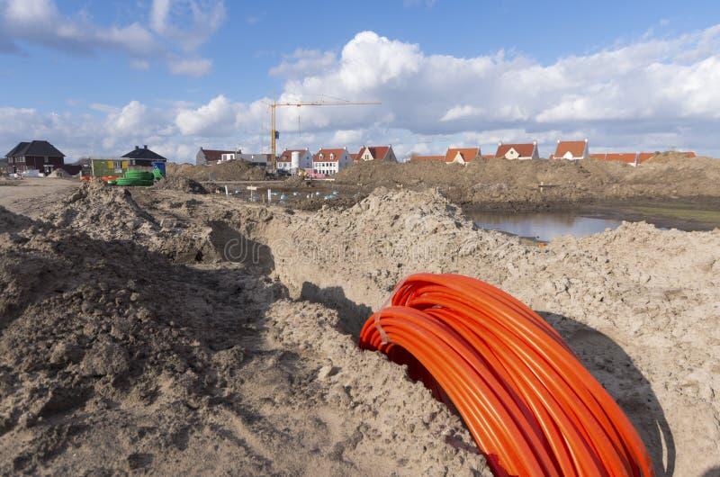 纤维缆绳 库存图片