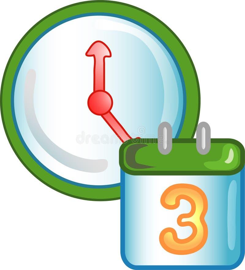 约会图标符号时间 向量例证