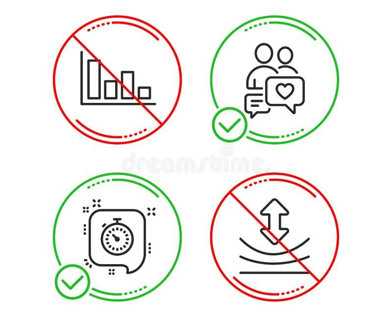 约会闲谈,定时器和直方图象集合 韧性标志 人爱,时间管理,经济趋势 ?? 向量例证