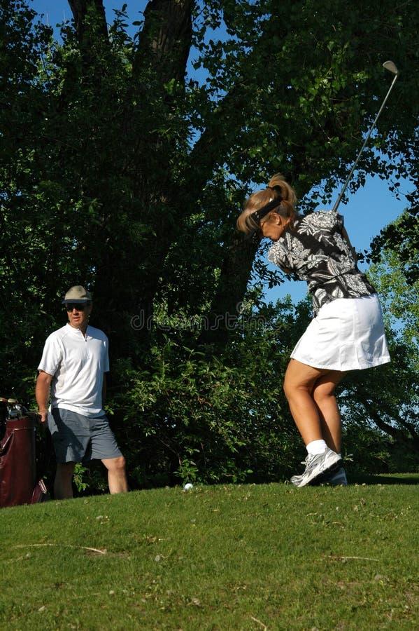 约会高尔夫球 库存照片