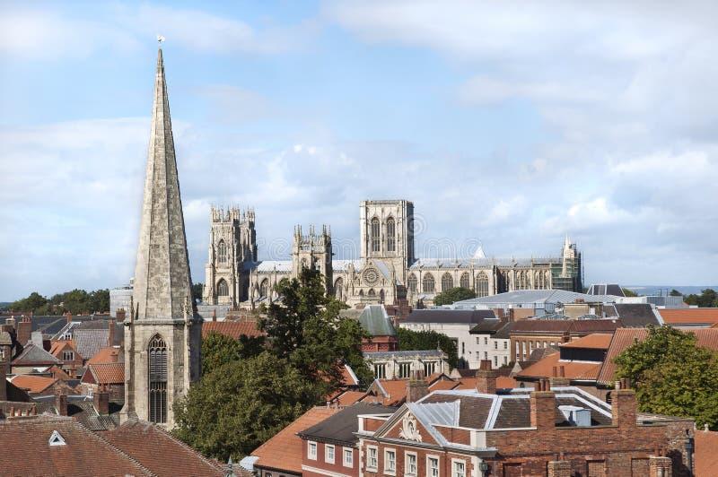 约克大教堂,约克,英国 免版税库存照片