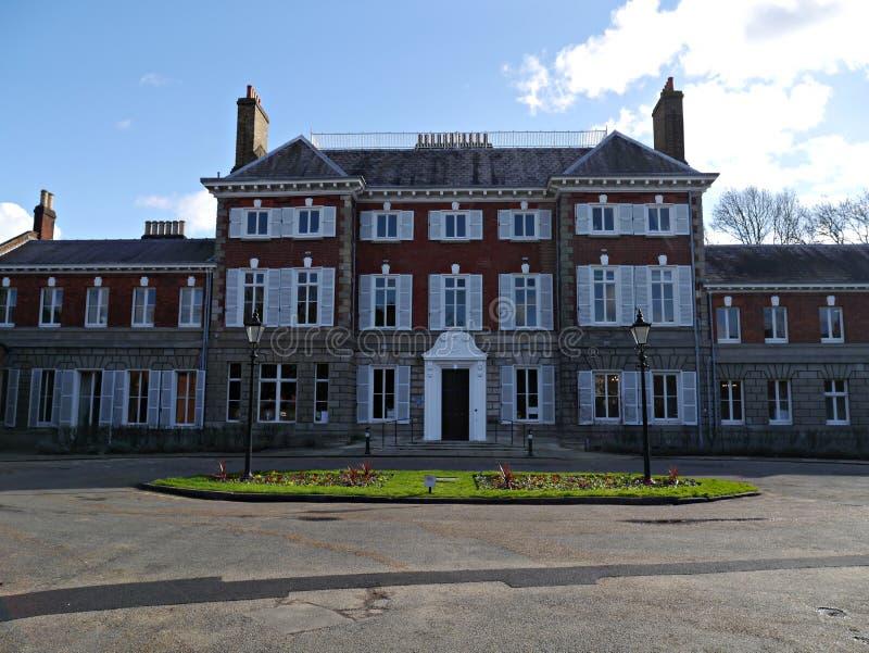 约克房屋建设前面在Twickenham大伦敦 库存照片
