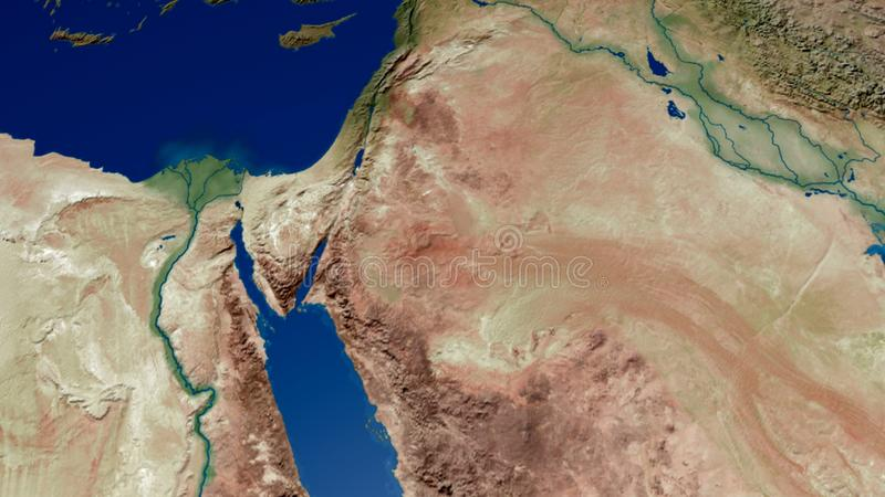 约旦以色列巴勒斯坦伊拉克叙利亚3D翻译 皇族释放例证