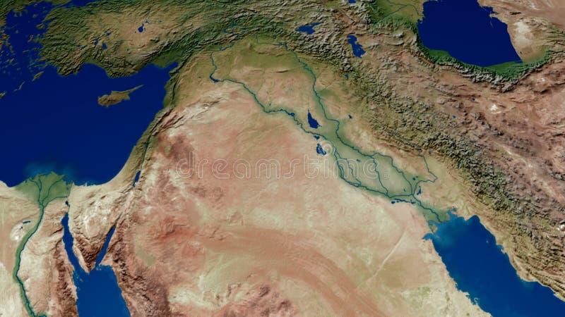 约旦以色列巴勒斯坦伊拉克叙利亚3D翻译 向量例证