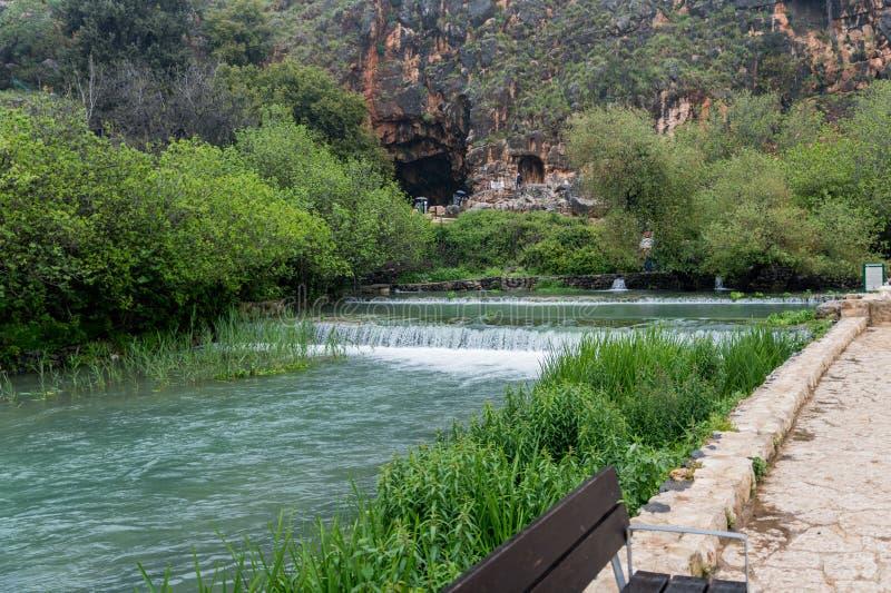 约旦河的Banias春天来源 免版税图库摄影