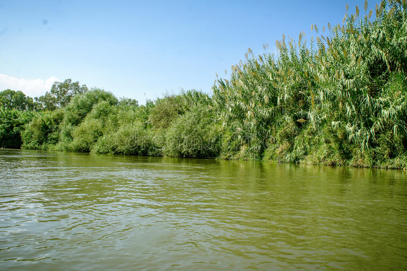 约旦河,以色列 免版税库存照片