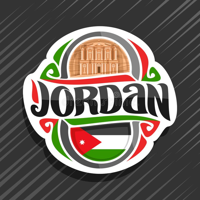 约旦的传染媒介商标 库存例证