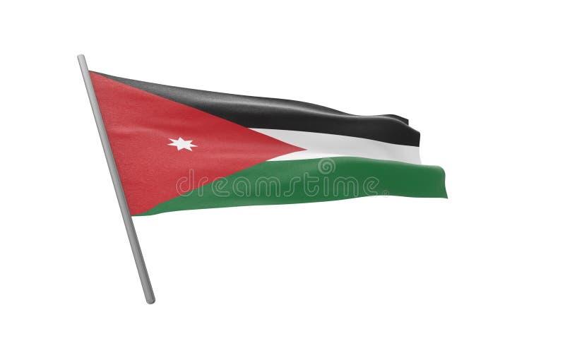 约旦的旗子 向量例证