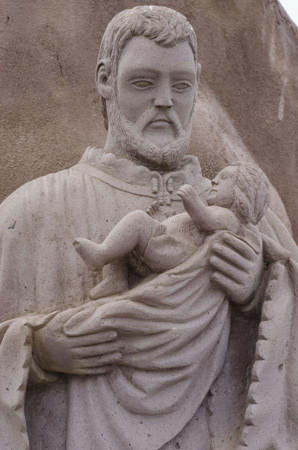 约瑟夫和小耶稣 库存照片