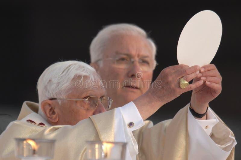 约瑟夫本尼迪克特XVI教皇 编辑类库存图片