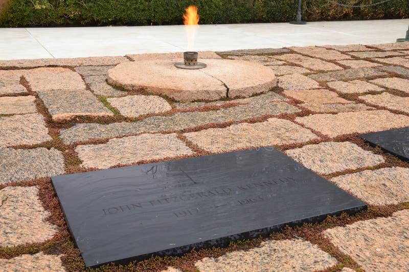 约翰・肯尼迪坟墓  库存照片