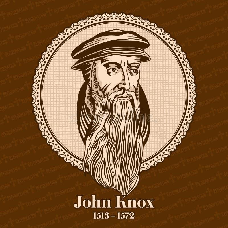 约翰・诺克斯1513 –1572是国家的改革的领导的苏格兰部长、神学家和作家 库存例证