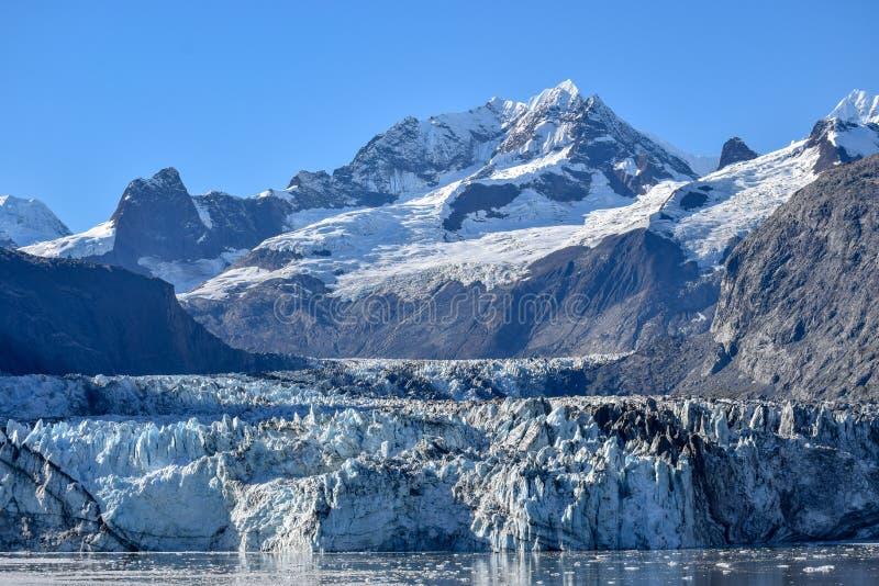 约翰・霍普金斯冰川在冰河海湾国立公园 库存图片