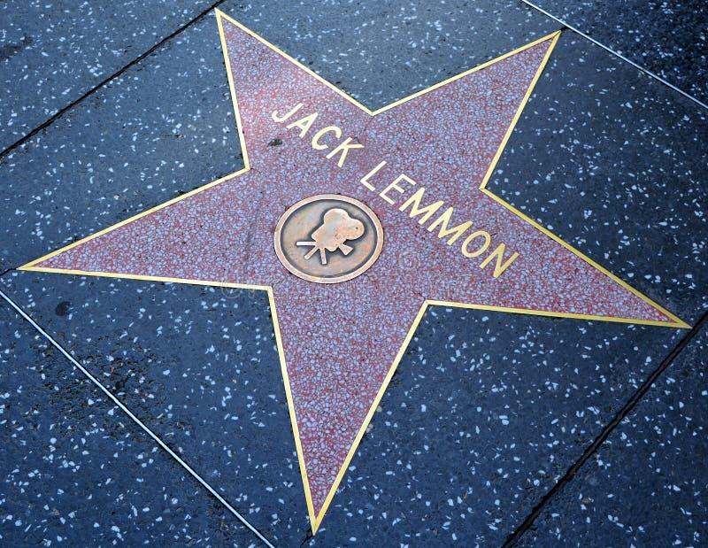 约翰乌莱尔`杰克` Lemmon名望星步行III 图库摄影