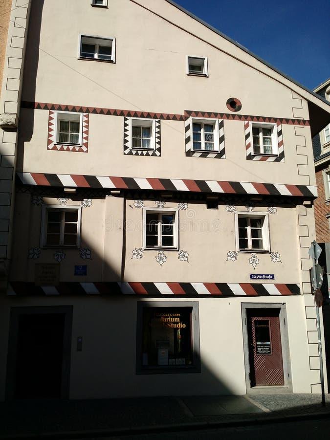 约翰内斯・开普勒房子,雷根斯堡,德国 免版税库存照片