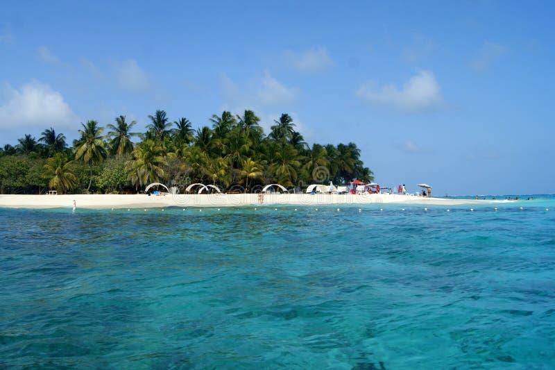 约翰尼岩礁海滩在圣安德烈斯/哥伦比亚 图库摄影