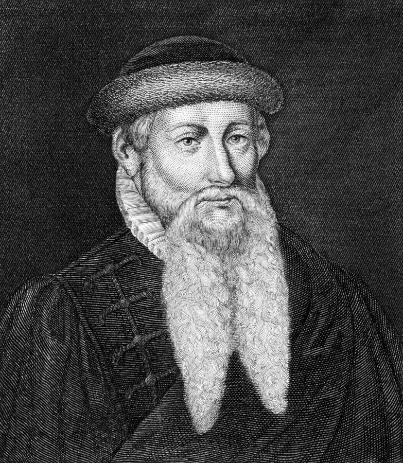 约翰尼斯Gutenberg 库存照片