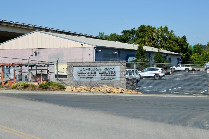 约翰逊城服务中心 免版税库存图片