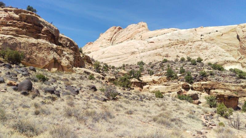 约翰逊Mesas的黑巨石城 库存图片
