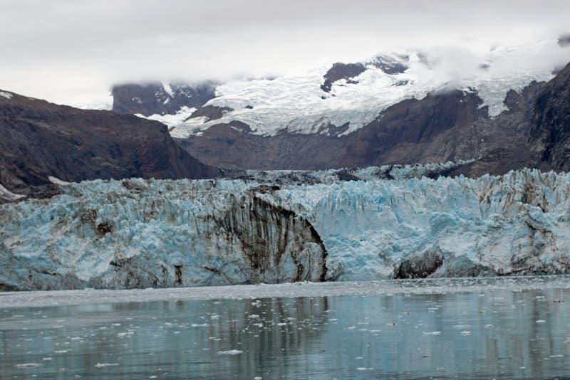 约翰霍普金斯冰川在冰川湾国家公园 免版税库存图片