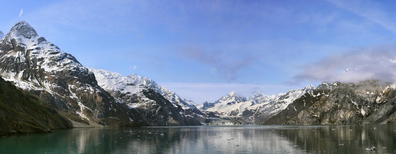 约翰霍普金斯冰川,阿拉斯加,美国 免版税库存图片
