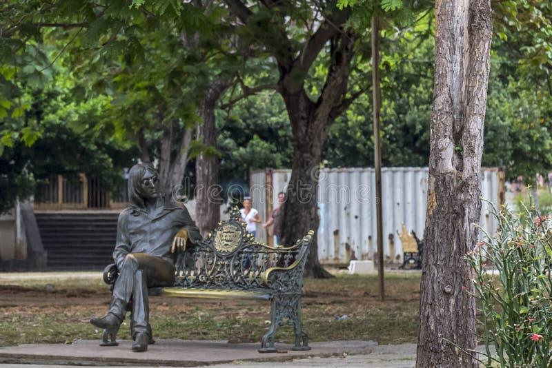 约翰・列侬公园,哈瓦那,古巴 免版税库存照片