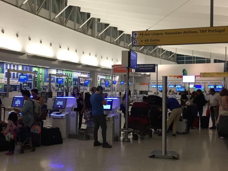 约翰・肯尼迪机场在纽约 免版税库存图片