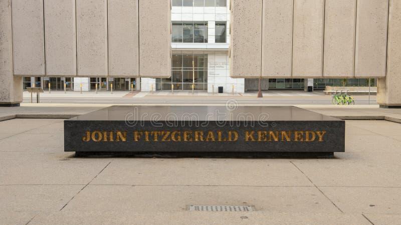 约翰F的中心 肯尼迪纪念品,达拉斯,得克萨斯 免版税库存照片