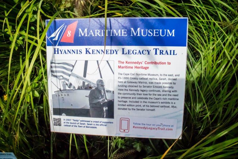 约翰F 肯尼迪口述历史和他的家庭用海角代码,马萨诸塞 免版税库存照片