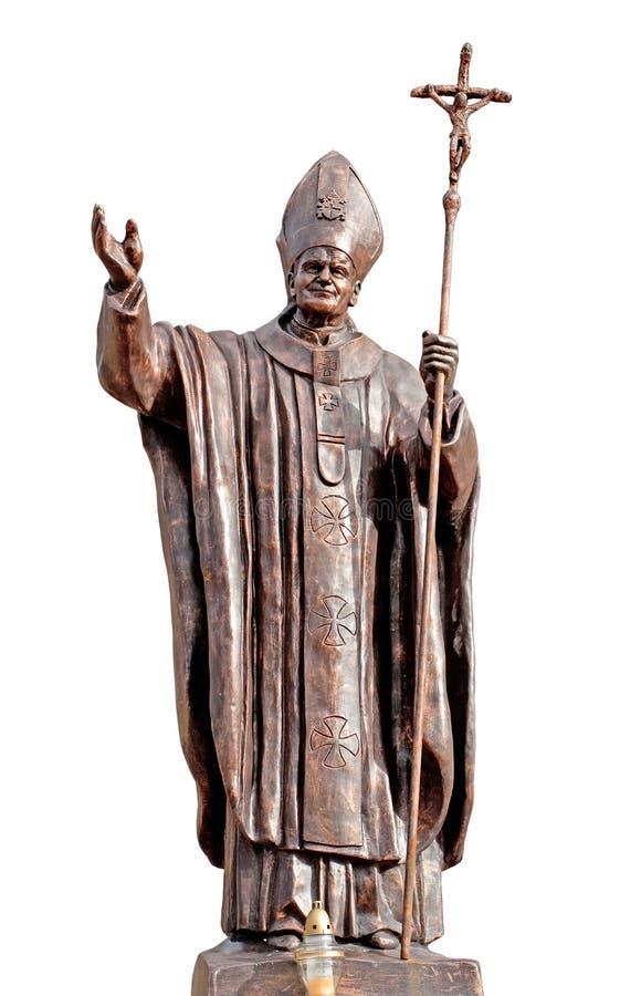 约翰pavel教皇雕象 库存图片