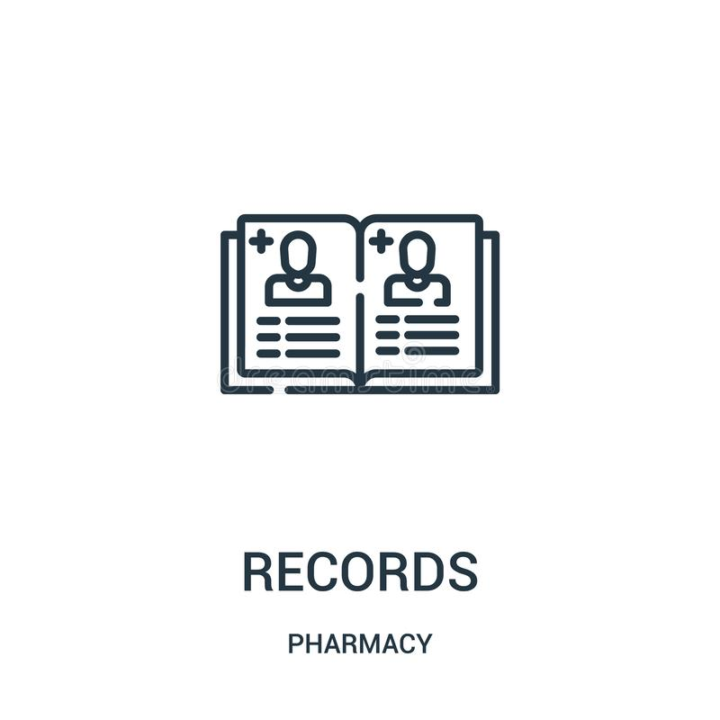纪录从药房汇集的象传染媒介 稀薄的线纪录概述象传染媒介例证 皇族释放例证