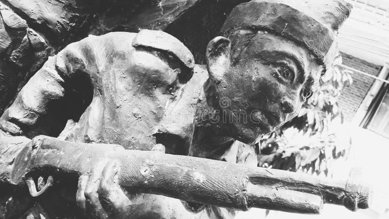 纪念二战的雕塑艺术 图库摄影