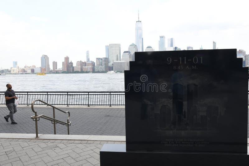 9/11/2001纪念品在泽西市新的JERSEN 库存照片