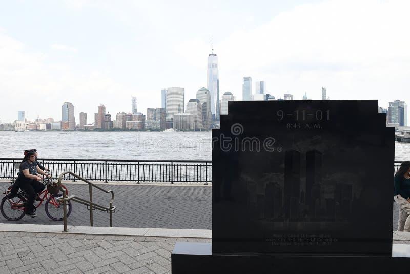 9/11/2001纪念品在泽西市新的JERSEN 免版税图库摄影