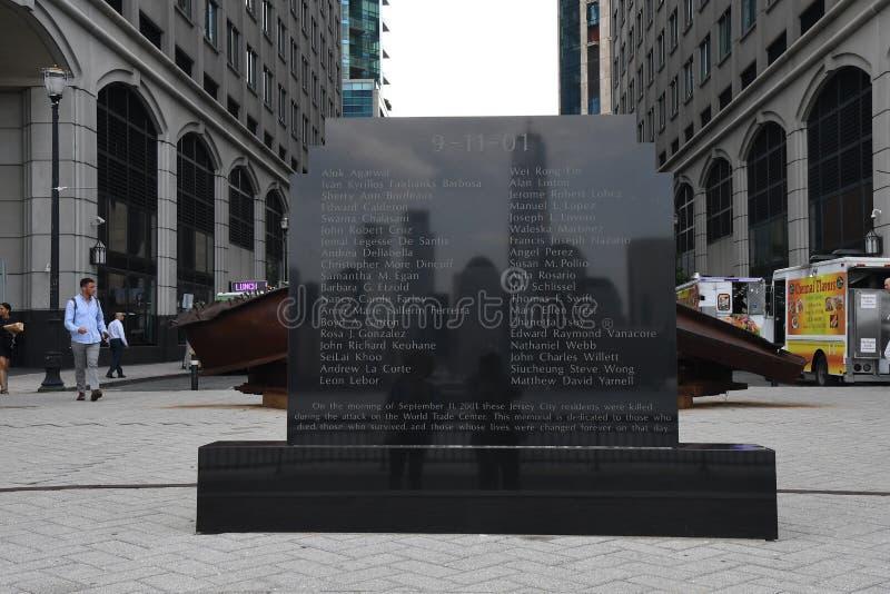9/11/2001纪念品在泽西市新的JERSEN 库存图片