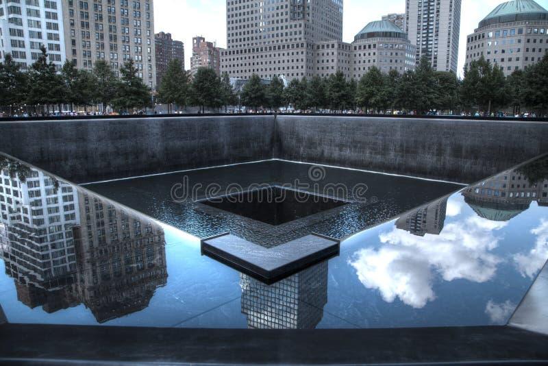 9/11纪念品在纽约 免版税库存照片