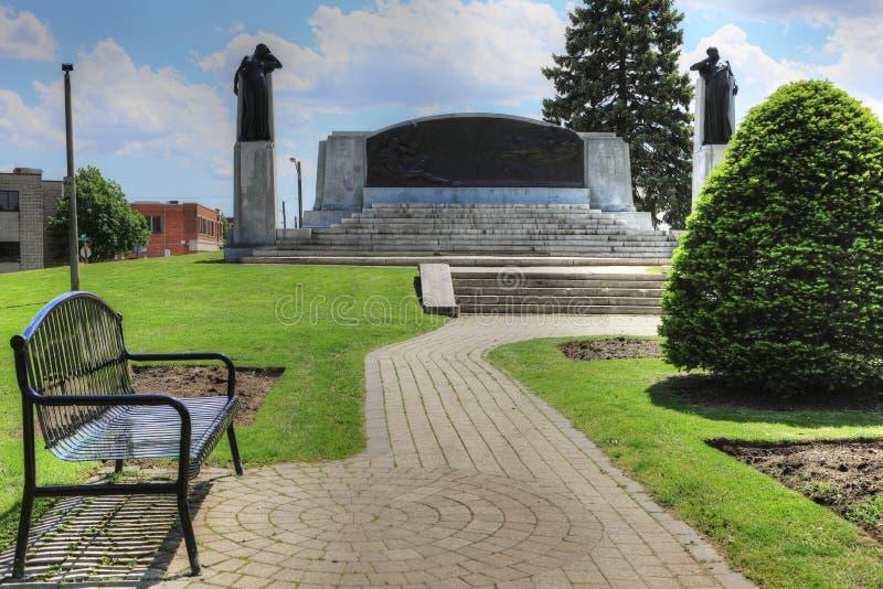 纪念品在Brantford,亚历山大・格拉汉姆・贝尔的加拿大 免版税库存图片