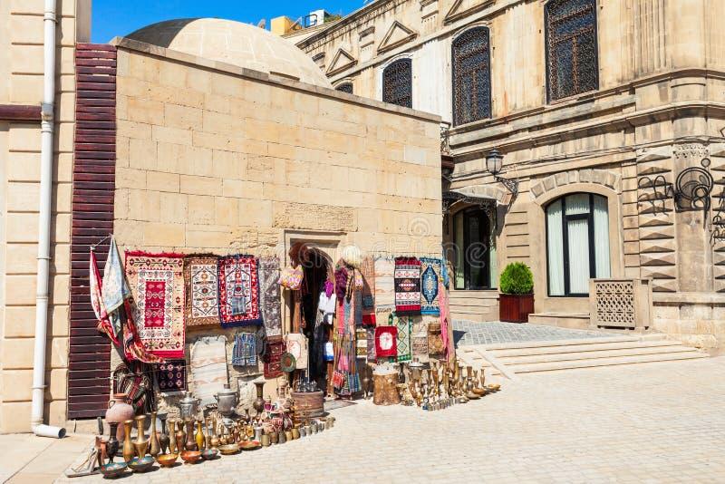 纪念品市场在巴库 图库摄影