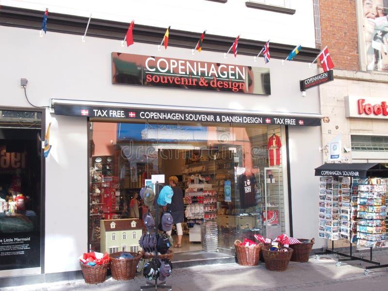 纪念品店哥本哈根丹麦 免版税库存图片