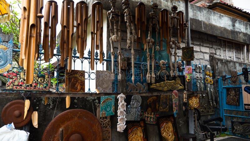 纪念品店在巴厘岛 库存图片