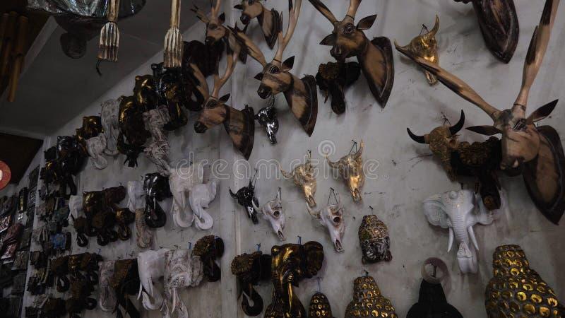 纪念品店在巴厘岛 图库摄影
