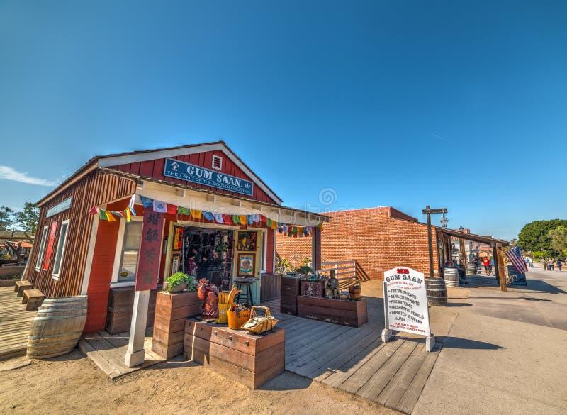 纪念品店在老镇圣地亚哥 免版税库存图片
