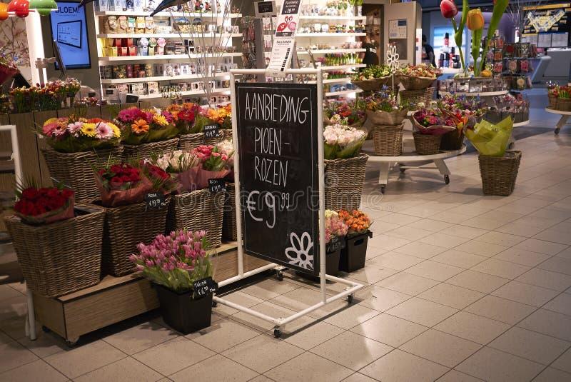 纪念品店在Schipol 免版税库存图片