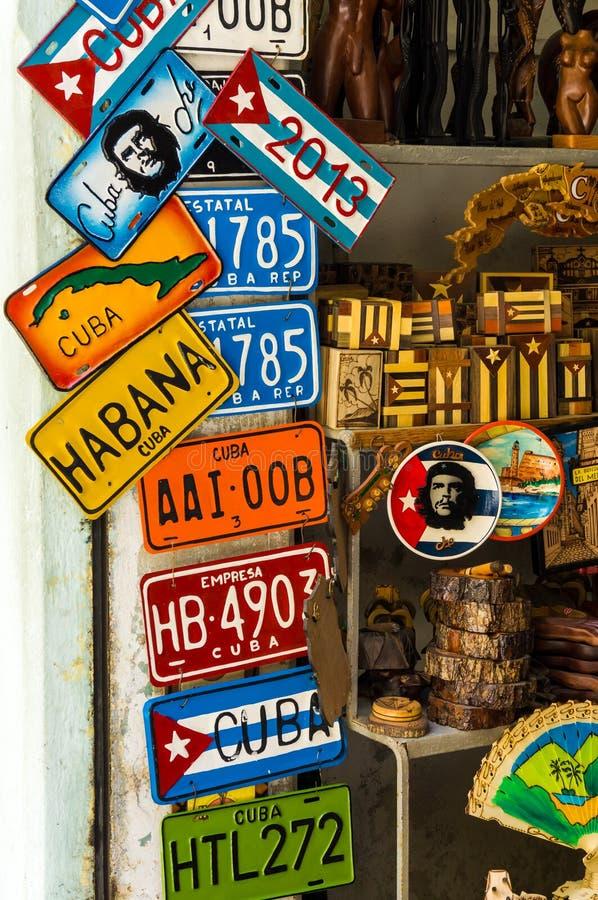 纪念品待售在哈瓦那 库存照片